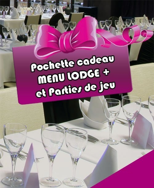 "Menu ""Le Lodge +"" + 20€ de parties de jeu"